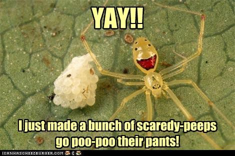 YAY!! I just made a bunch of scaredy-peeps go poo-poo their pants!