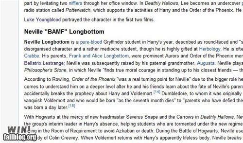 BAMFs Harry Potter neville longbottom wikipedia - 4980156928