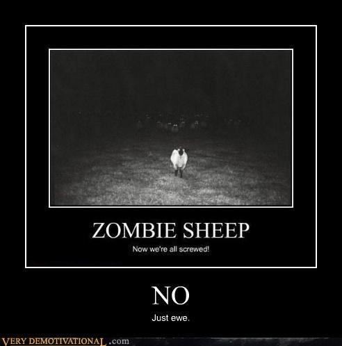 ewe sheep Terrifying you zombie - 4980507648