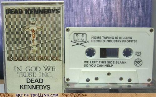 cassette tape dead kennedys IRL Music piracy - 4980760320