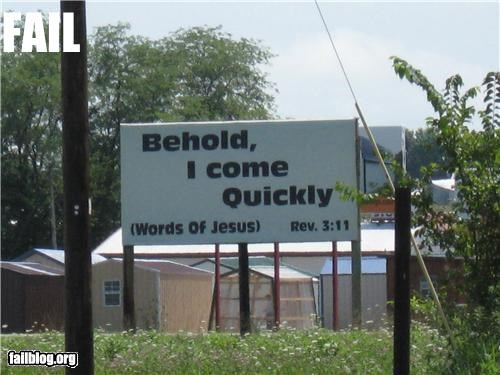 Evangelizing FAIL Roadside sign in Missouri