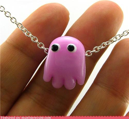 chain ghost Jewelry necklace pac man pendant pinky - 4981568000