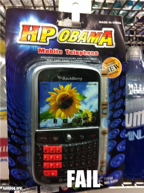blackberry,cell phone,failboat,g rated,knockoff,obama