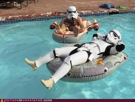 lazy pool star wars stormtrooper wtf - 4982534400