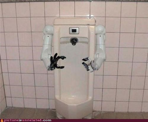 creepy,robot hands,urinal,wtf