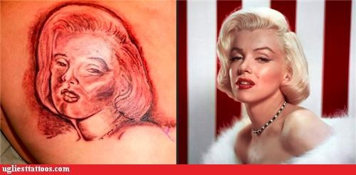 I see dead people,marilyn monroe,poor execution,pop culture,portraits