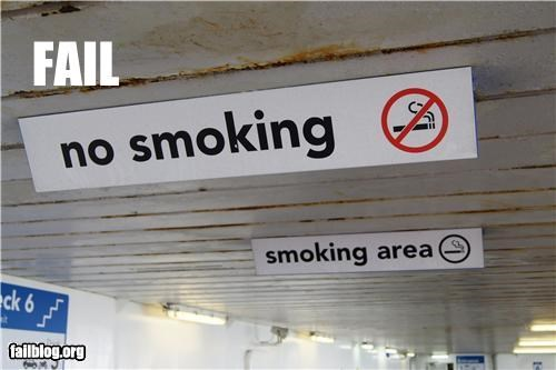confusing contradiction failboat g rated no smoking signs - 4983086848