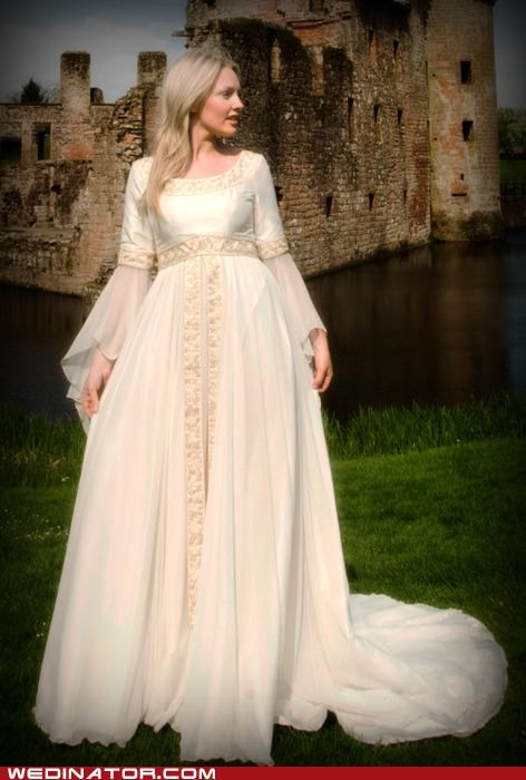 bridal fashion funny wedding photos Hall of Fame medieval pretty or not wedding couture wedding dress - 4983358976