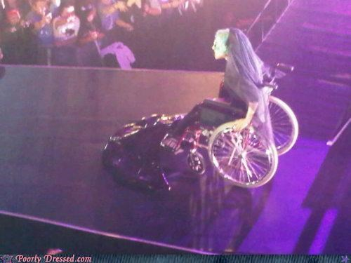 Bette Midler lady gaga mermaid wheelchair