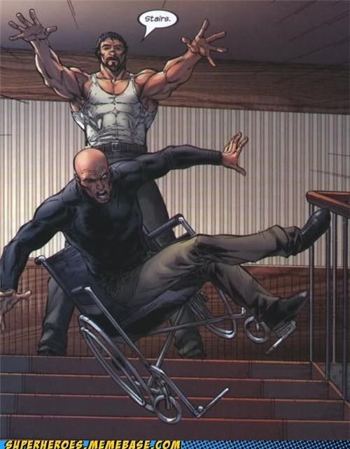 mean professor x stairs Straight off the Page wheelchair - 4984172800