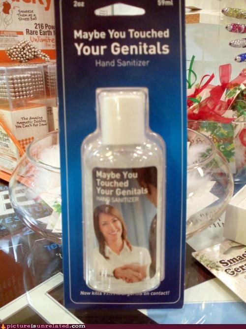 genitals hand sanitizer product wtf