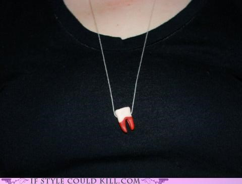 Blood cool accessories necklaces teeth - 4984529920
