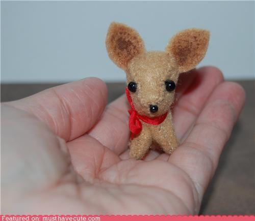 chihuahua dogs felt handmade miniature Plush - 4984590080