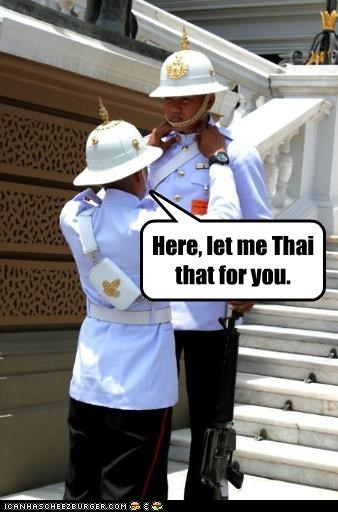 Here, let me Thai that for you.
