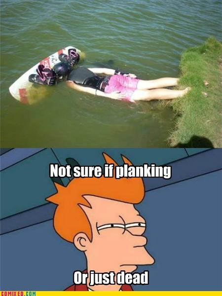 fry futurama Planking the internets wake board - 4984922368