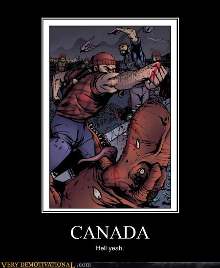 art,Canada,dinosaur,Hall of Fame,hilarious,lumberjacks,tough,wtf