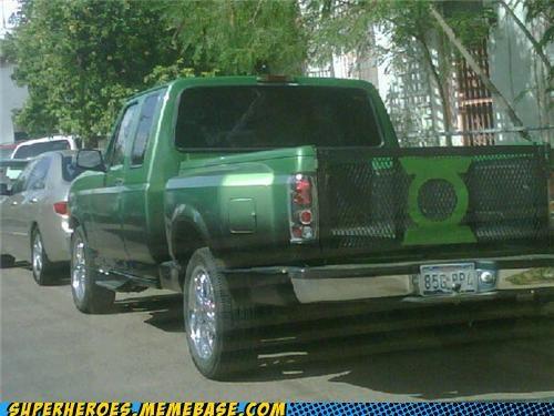 Green lantern homemade Random Heroics truck - 4985222400