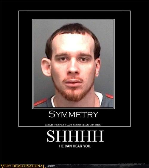 ears hilarious mug shot symmetry wtf