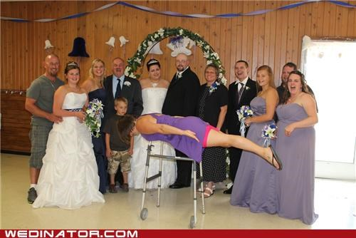 bride,funny wedding photos,Planking,wedding party