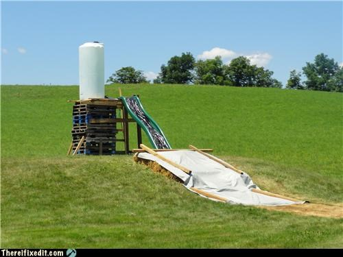 dangerous,redneck,safety first,slide