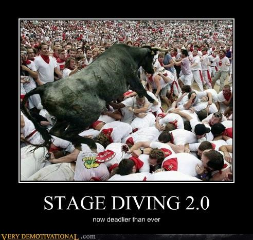 animals,bull,stage diving,Terrifying,wtf
