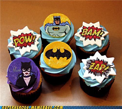 batman catwoman cupcakes food Random Heroics - 4986250752