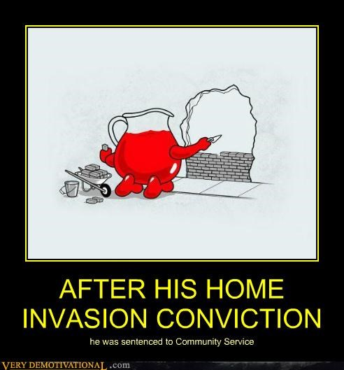 art community sevice conviction hilarious kool-aid guy - 4986298368