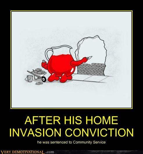 art community sevice conviction hilarious kool-aid guy - 4986298368