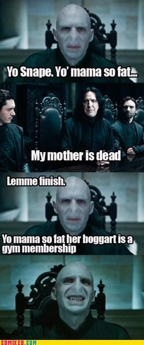 boggart,Harry Potter,kanye west,snape,voldemort,yo mama so fat