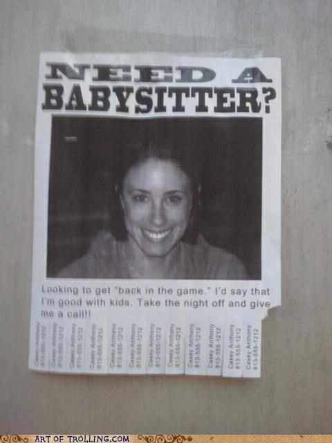 baby sitting babysitter Casey Anthony IRL kids - 4986424832
