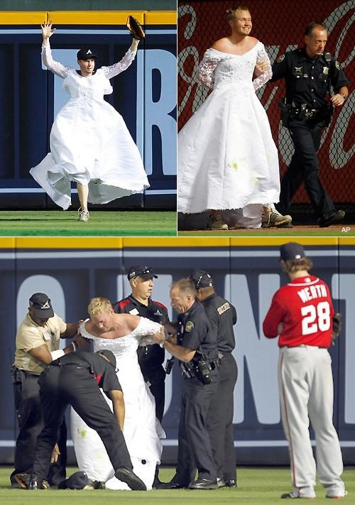 braves Nationals Pitch Invader runaway bride - 4986503424