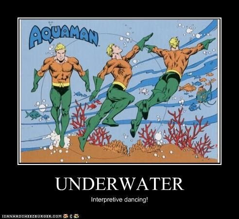 aquaman interpretive dancing olympics Super-Lols - 4986687744