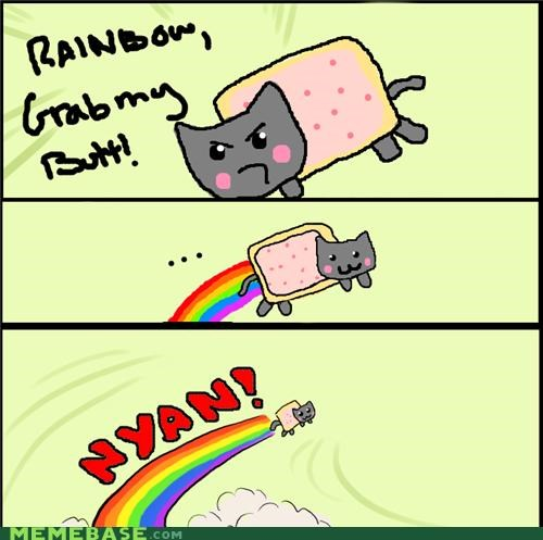 adventure animemes butt cat nyancat origins poptart rainbow - 4986760960
