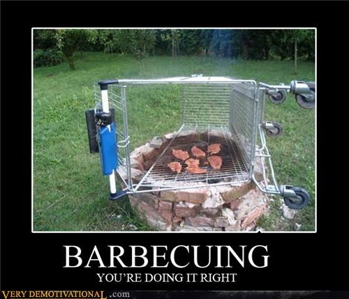 awesome,bbq,grill,hilarious,right,shoping cart