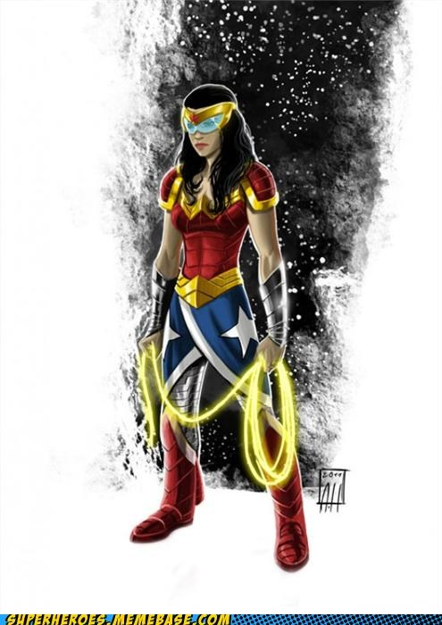 Awesome Art redesign space wonder woman - 4986856704
