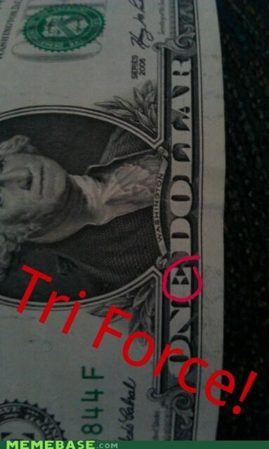 america,dollar,george washington,Memes,triforce,video games,zelda