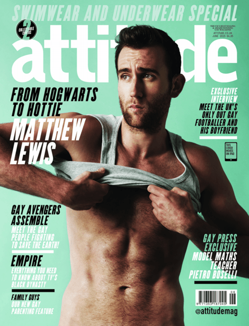 attitude magazine Harry Potter jk rowling neville longbottom scandalizes Matthew Lewis - 498693