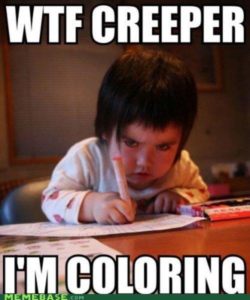 coloring creeper kids Memes repost whatever wtf - 4986993152