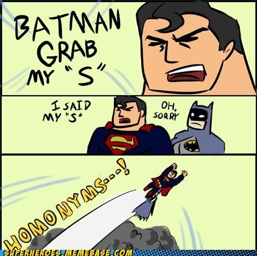 batman grab my homonyms Random Heroics superman - 4987085312