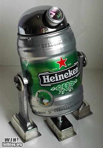 alcohol,beer,droid,Heineken,nerdgasm,star wars