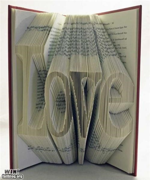 art awesome book carved love pages paper