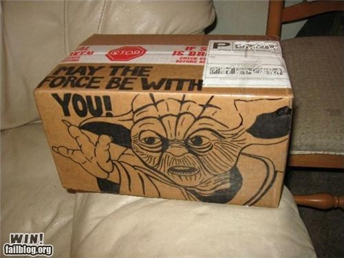 box,delivery,drawing,fed ex,nerdgams,star wars,yoda
