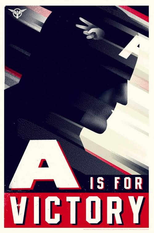 captain america merch movies Olly Moss posters propaganda superheroes - 4987337216