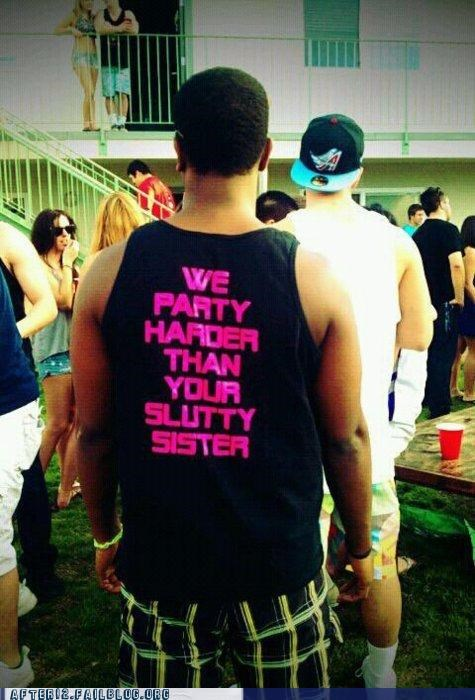 party hard shirt sister - 4987358464