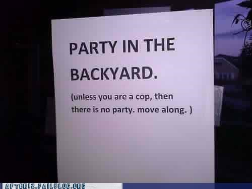 move along nothing to see here Party sign