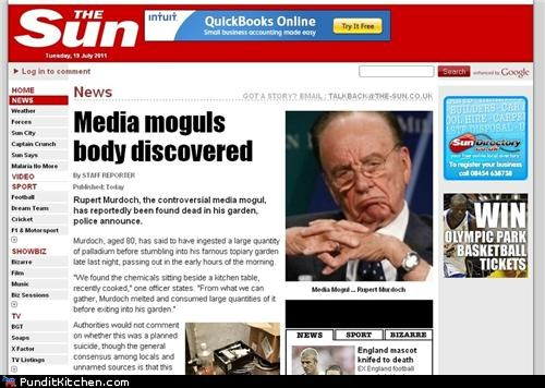 hackers hacks political pictures Rupert Murdoch The Sun