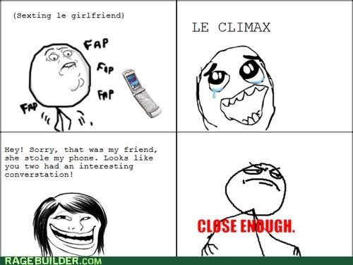 Awkward Close Enough friend Rage Comics sexting - 4987957504
