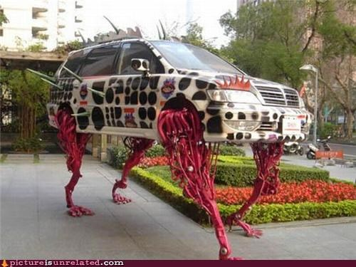 art,car,creepy,legs,wtf