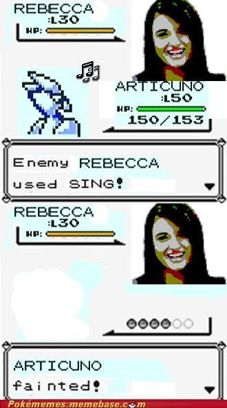 articuno,Battle,faint,FRIDAY,Rebecca Black