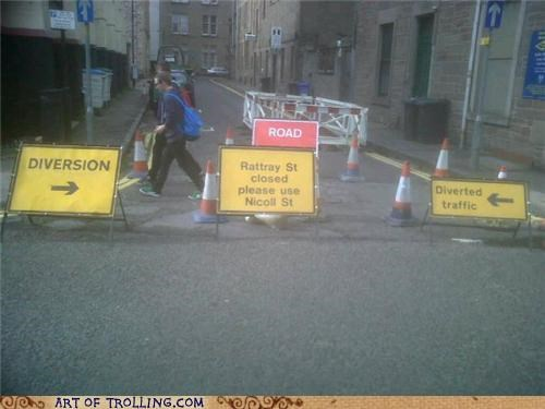 diversion IRL sign traffic - 4989186048